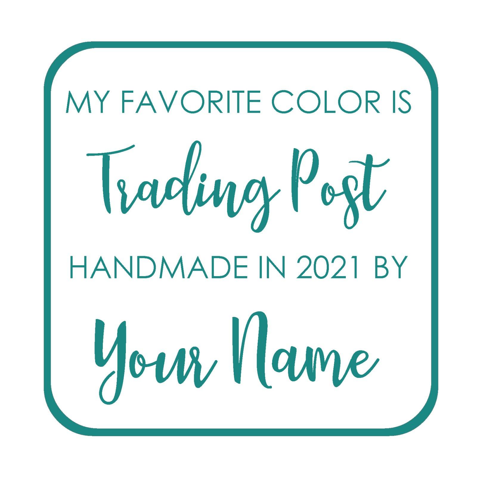 Trading Post Custom Label - My Favorite Color is Moda BOM