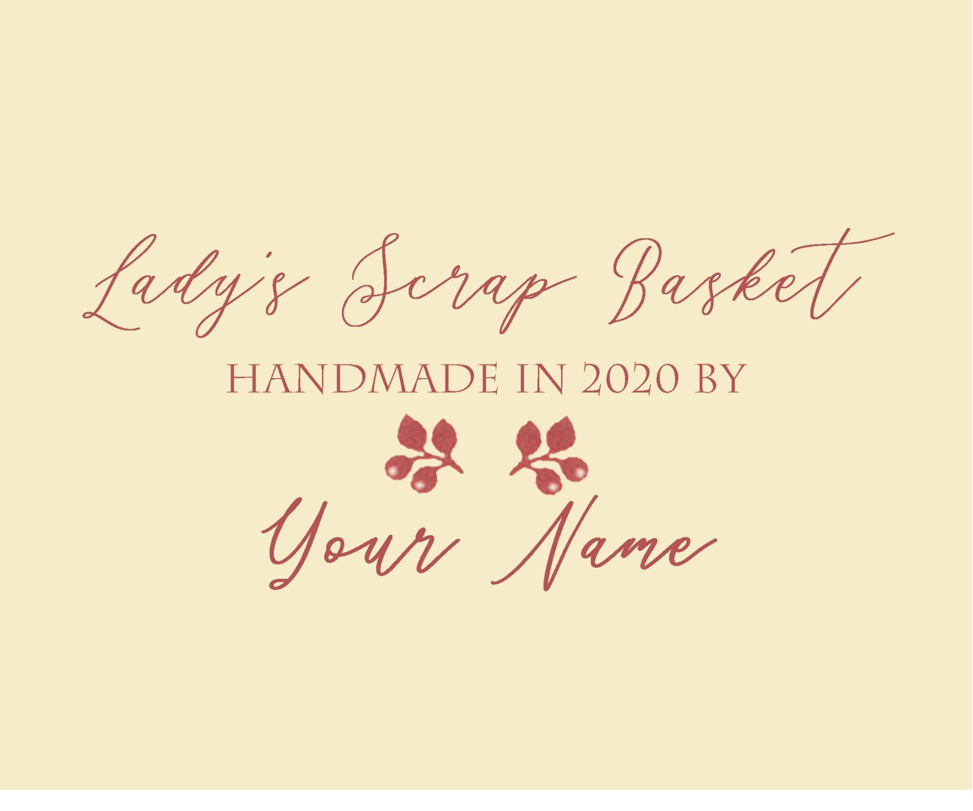 Lady's Scrap Basket BOM Custom Quilt Label