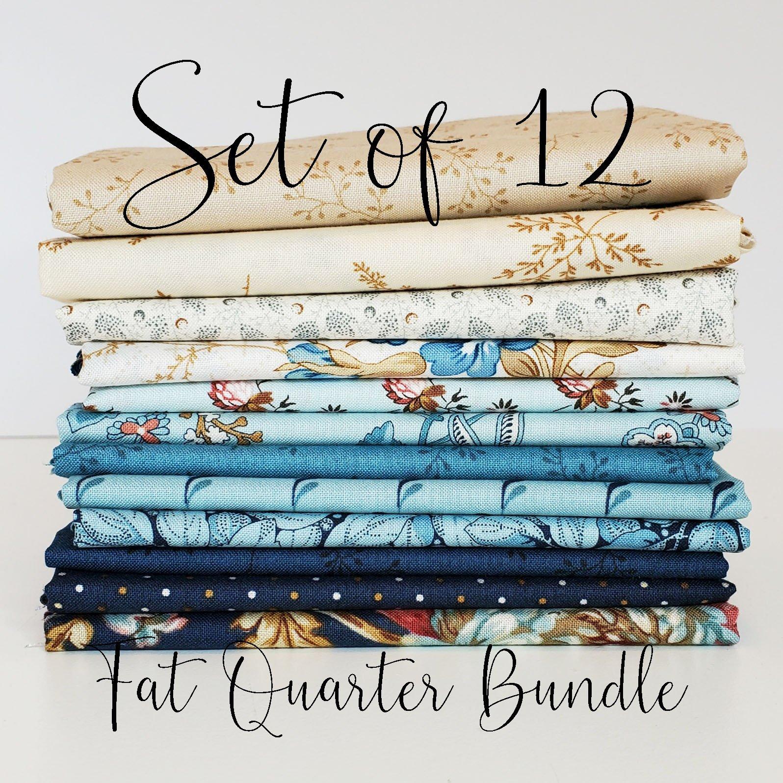 Laundry Basket Blues - 12 Fat Quarter Bundle
