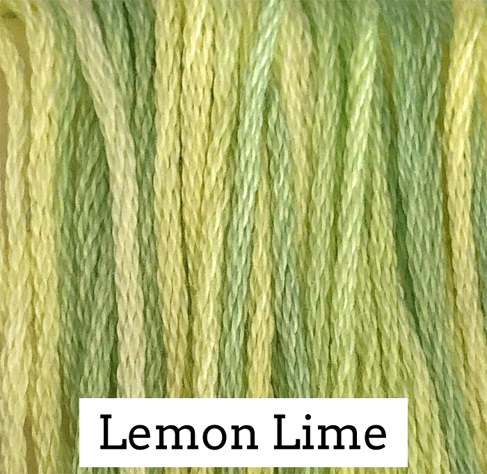 Lemon Lime Classic Colorworks 6 Strand Hand-Dyed Embroidery Floss