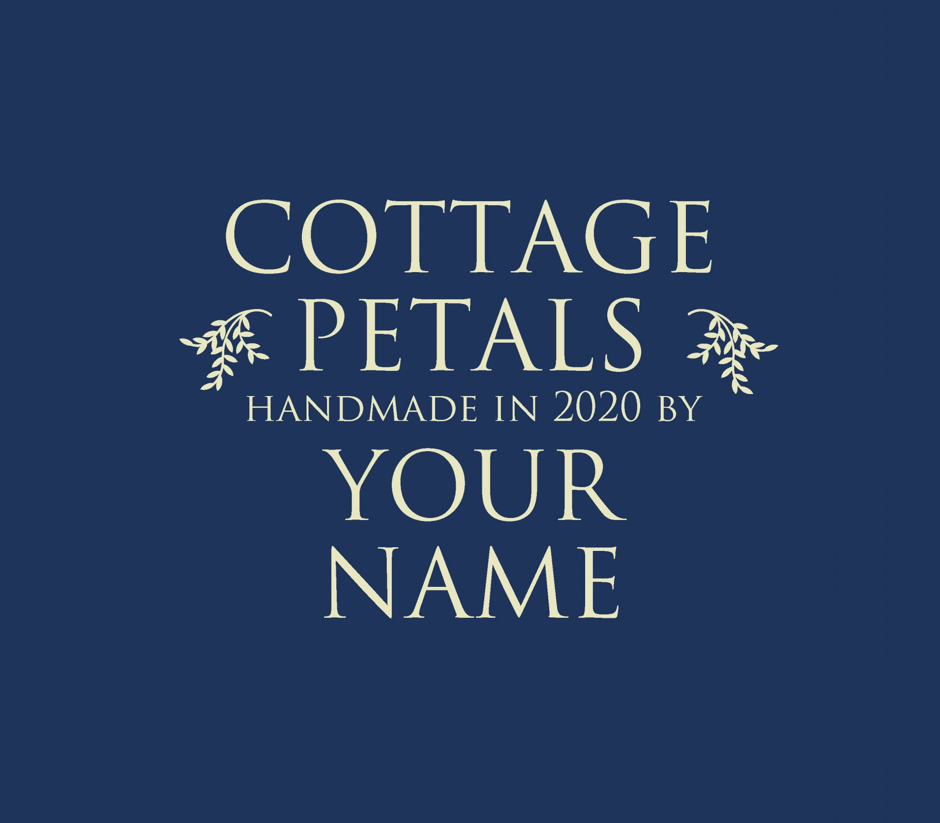 Cottage Petal Custom Quilt Label