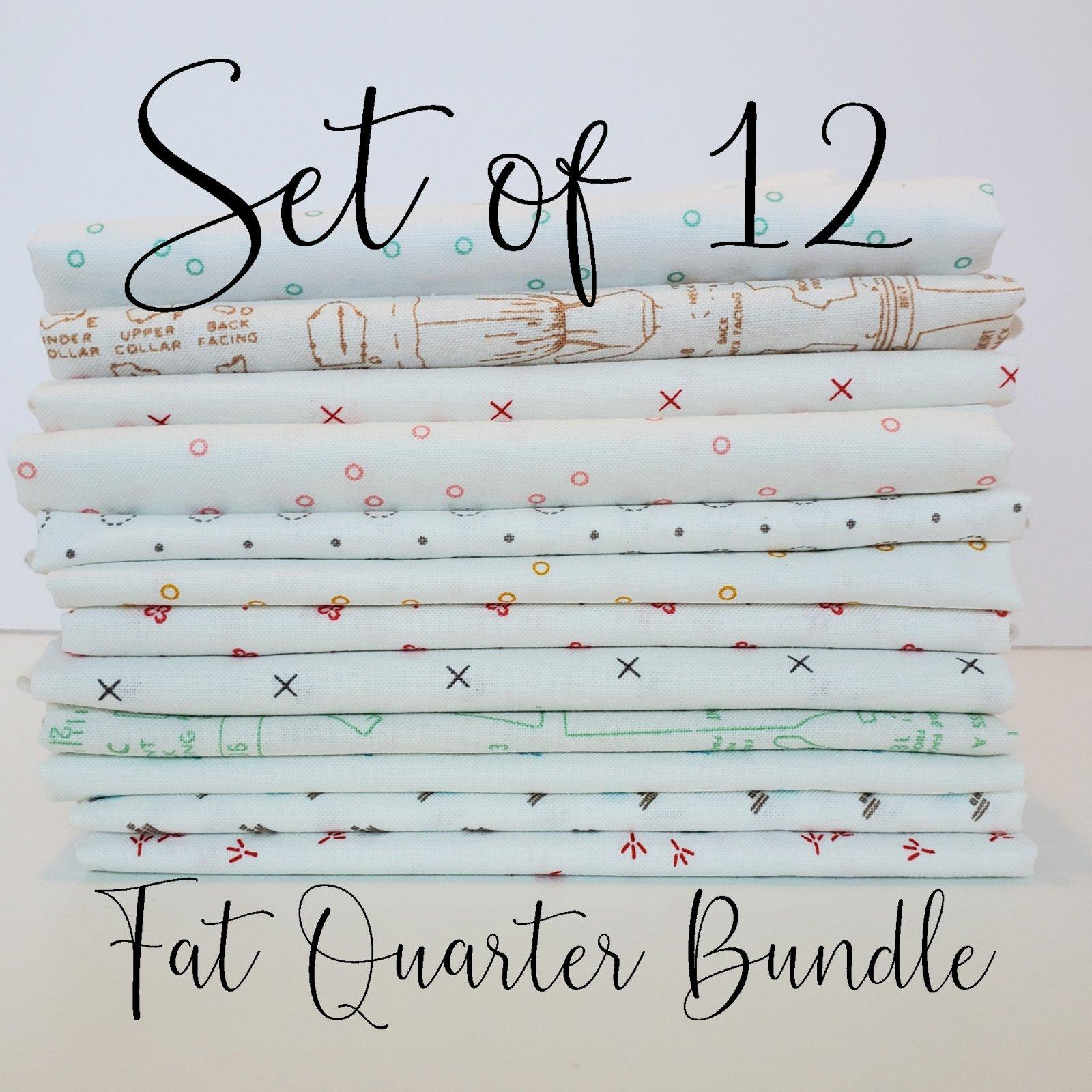 Lori Holt Background Fabrics - 12 Fat Quarter Bundle