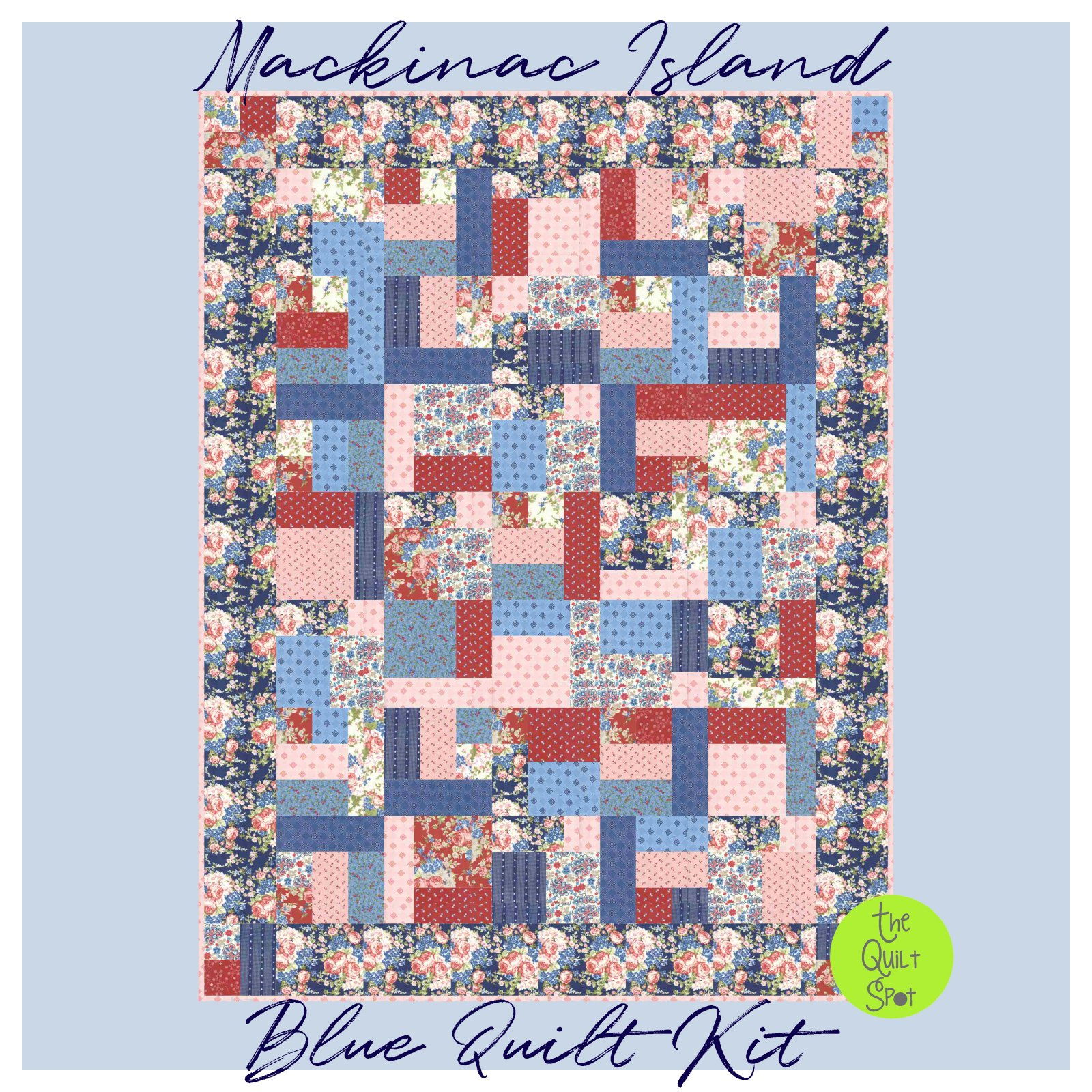 Mackinac Island Quilt Kit Blue Border