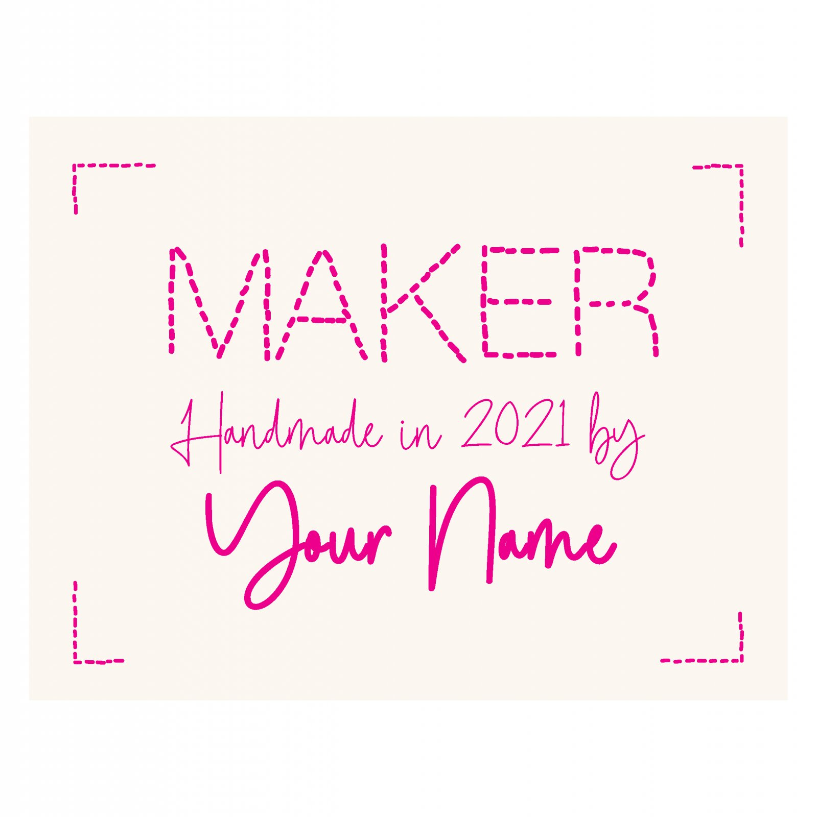 Maker Custom Label