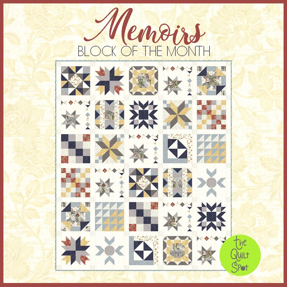 Memoirs Block of the Month by 3 Sisters