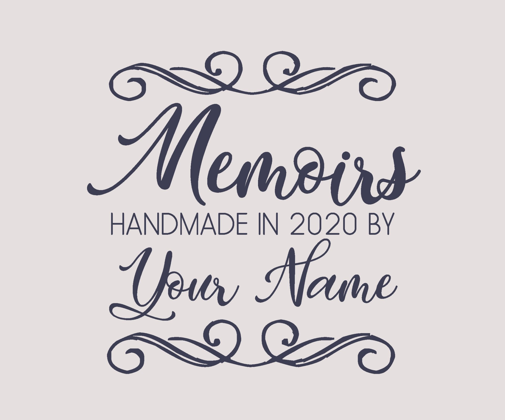 Memoirs BOM Custom Quilt Label