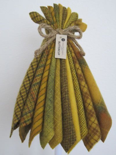 Mary Flanigan Wool Bundle - 5 1/2 x 4 1/2 - Buttercup