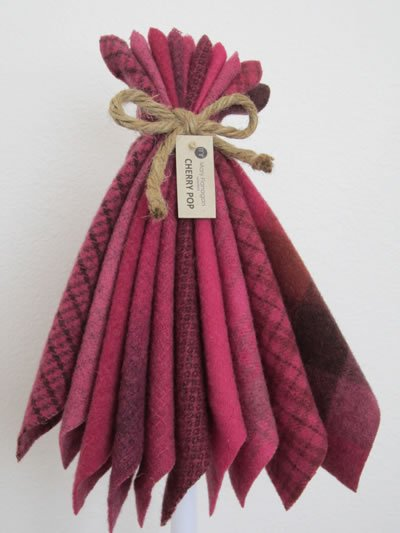 Mary Flanigan Wool Bundle - 5 1/2 x 4 1/2 - Cherry Pop