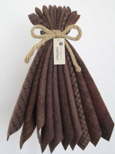 Mary Flanigan Wool Bundle - 5 1/2 x 4 1/2 - Chestnut