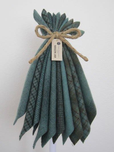 Mary Flanigan Wool Bundle - 8 x 6 1/2 - Mason Jar