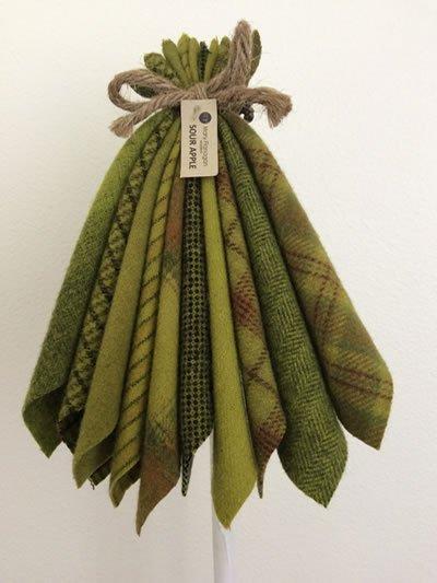 Mary Flanigan Wool Bundle - 5 1/2 x 4 1/2 - Sour Apple