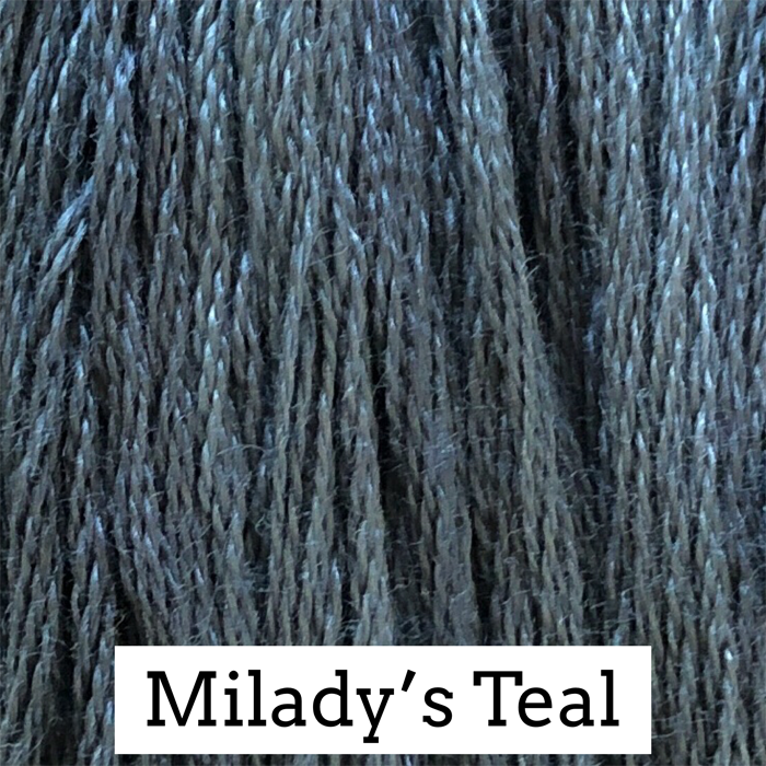 Milady's Teal Classic Colorworks 6 Strand Hand-Dyed Embroidery Floss