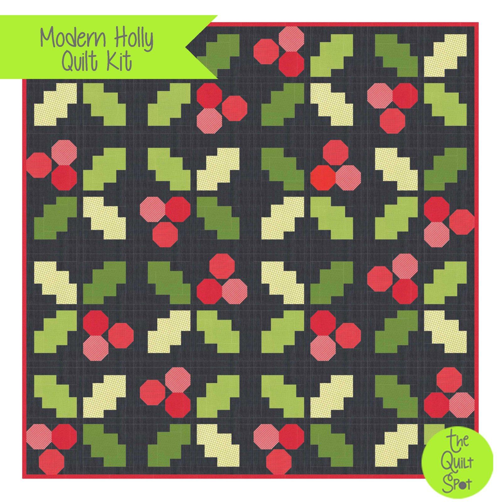 Modern Holly Quilt Kit