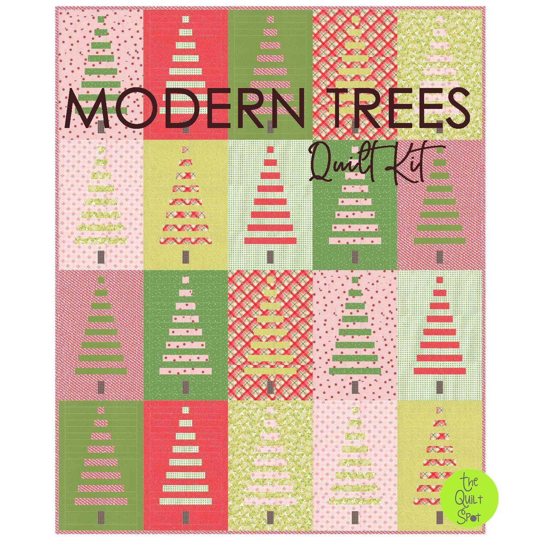 Modern Trees Quilt Kit