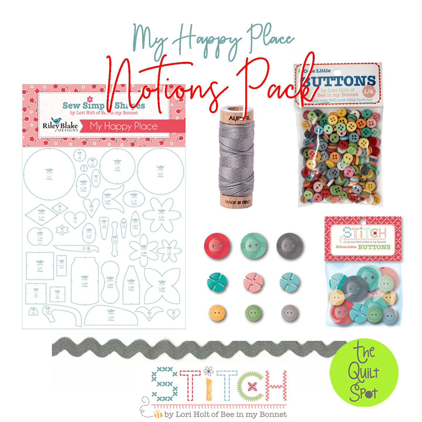 My Happy Place Notions Pack