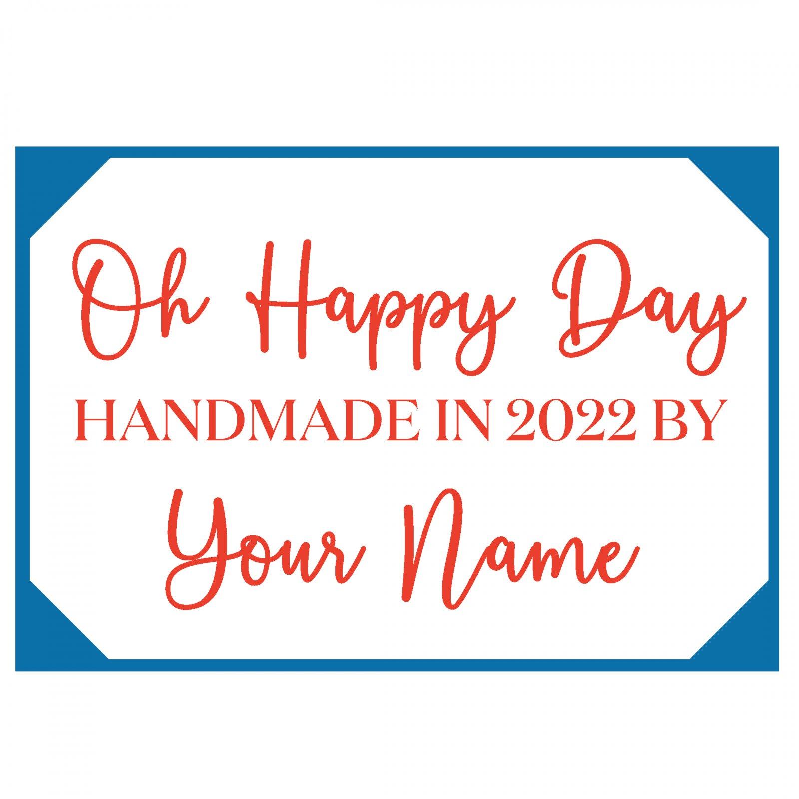 Oh Happy Day Custom Label