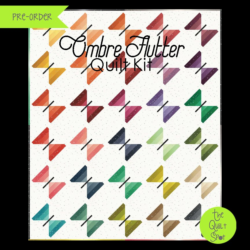 Ombre Flutter Quilt Kit by V and Co.