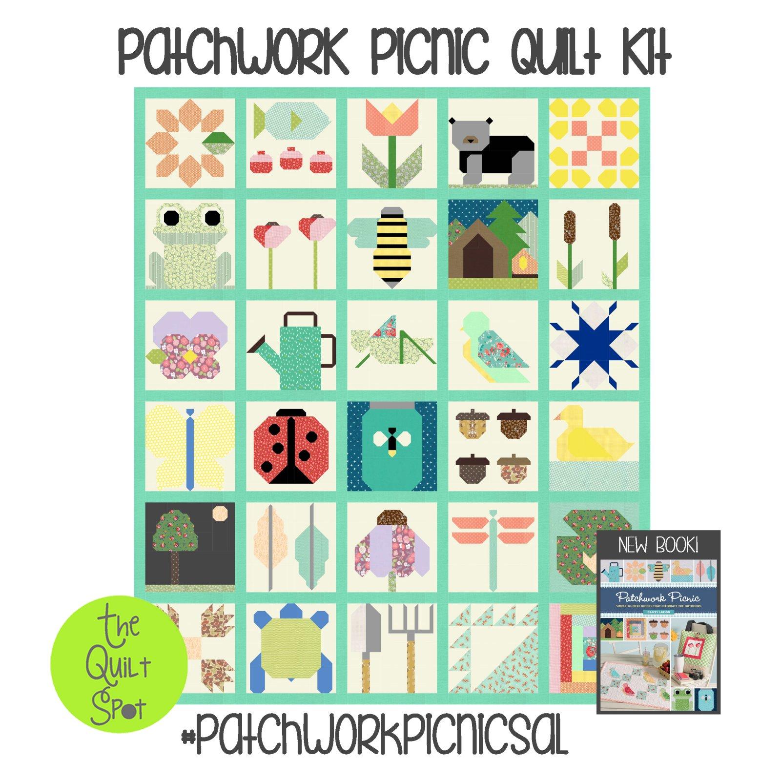 Patchwork Picnic Quilt Top Kit