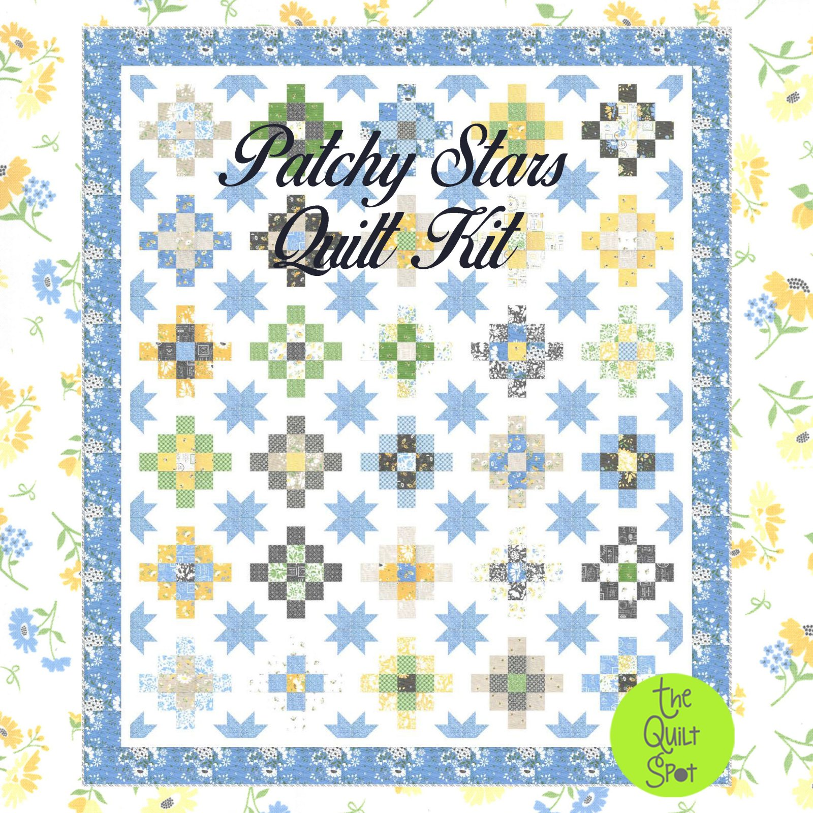 Patchy Stars Quilt Kit featuring Spring Brook by Corey Yoder