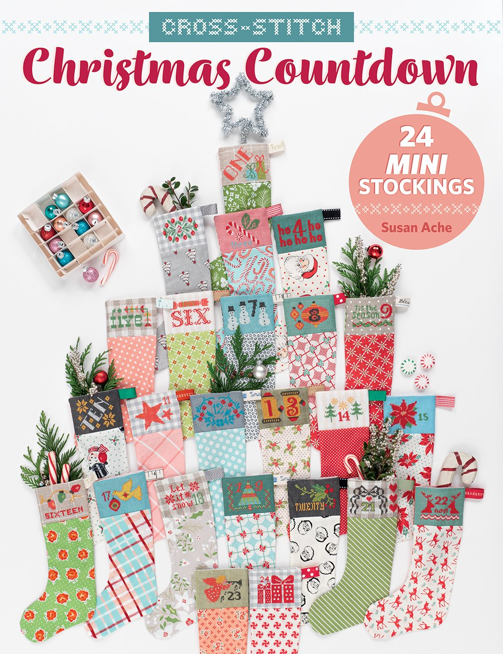 Cross-Stitch Christmas Countdown Book by Susan Ache