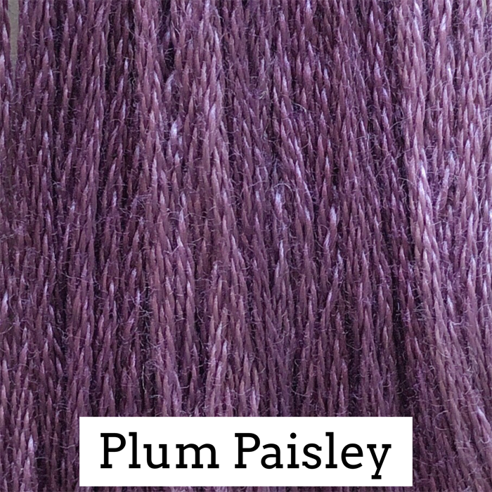 Plum Paisley Classic Colorworks 6 Strand Hand-Dyed Embroidery Floss
