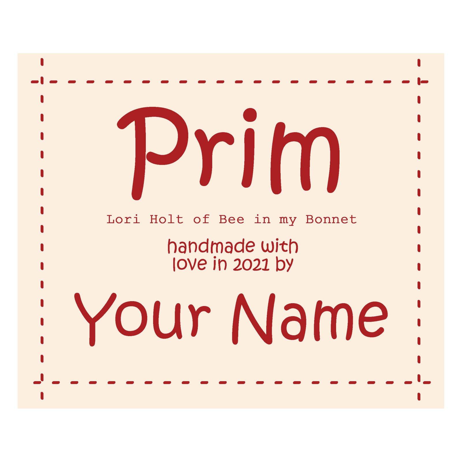 Prim Custom Label