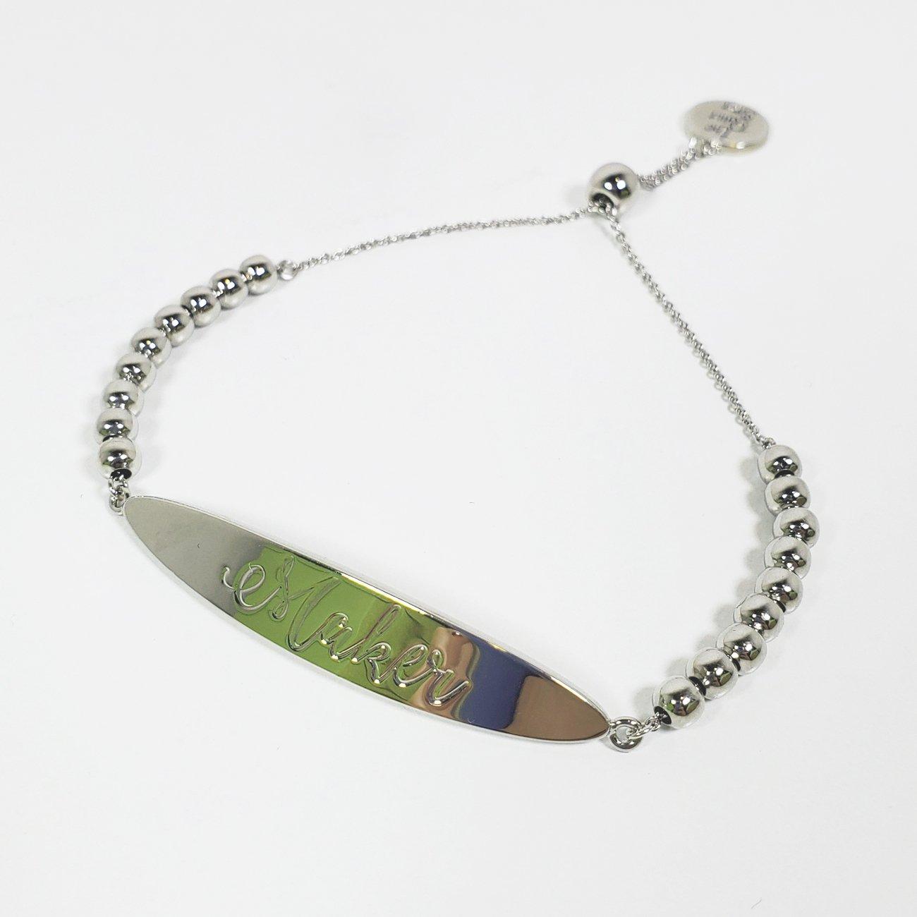 Maker Bracelet Silver