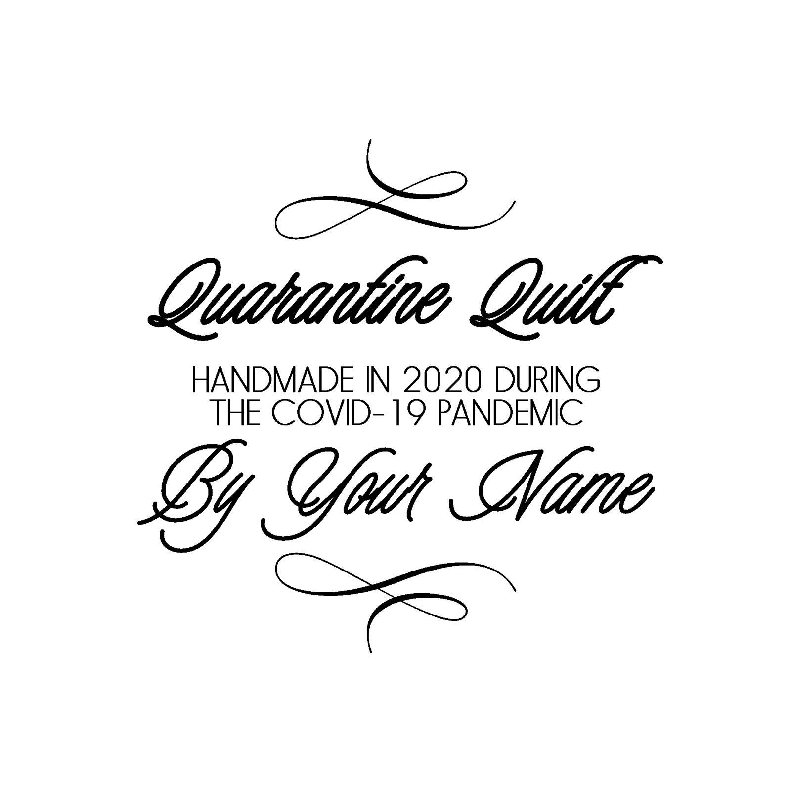 Quarantine Quilt Label Romantic