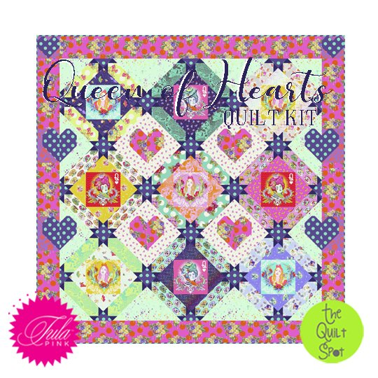 Tula Pink's Queen of Hearts Quilt Kit featuring Curiouser & Curiouser