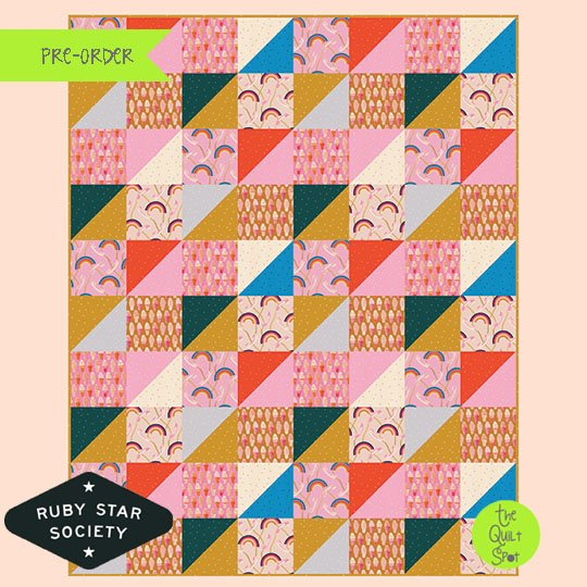 Rainbow Ice Cream Quilt Top Kit by Melody Miller