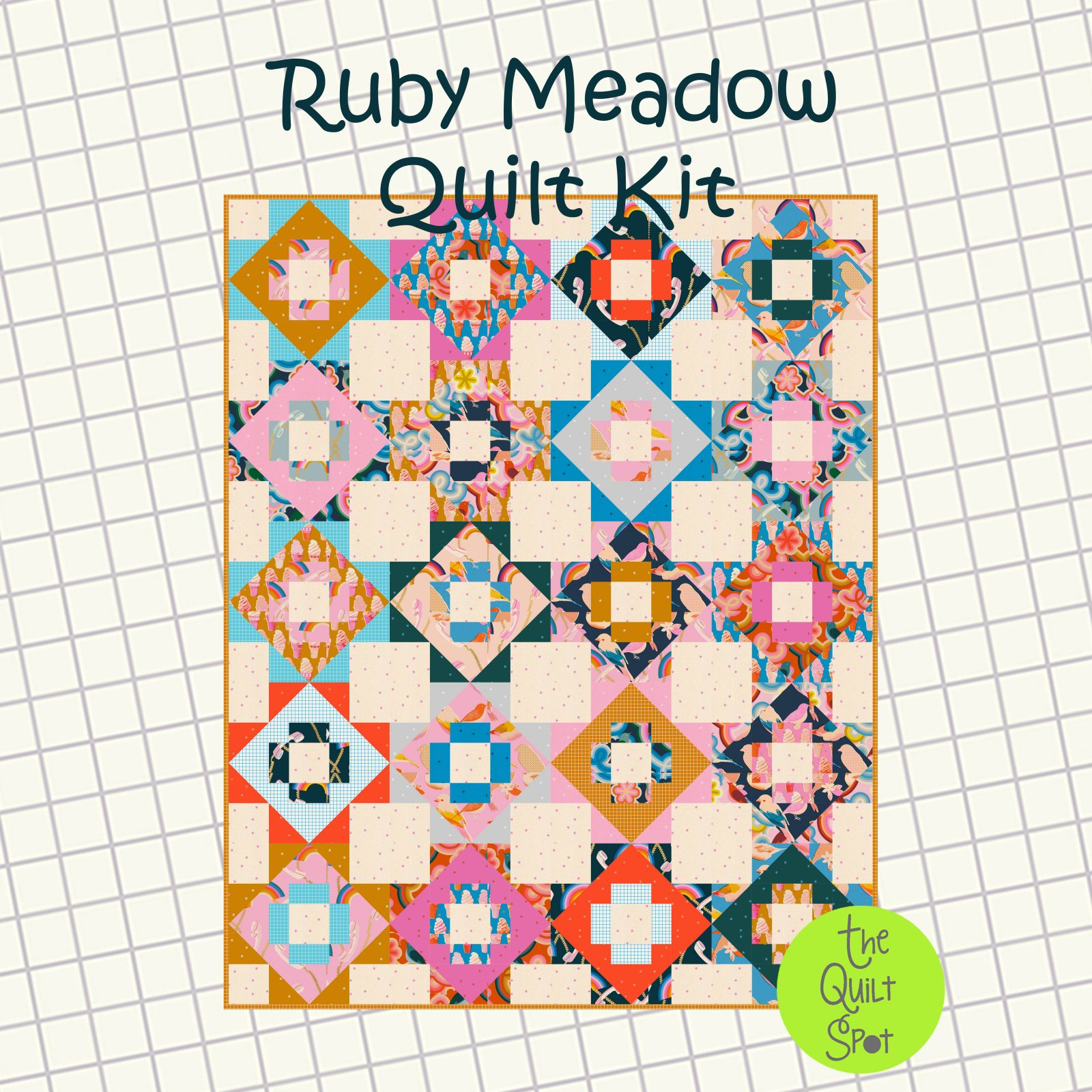 Ruby Meadow Quilt Kit - Ruby Star Society