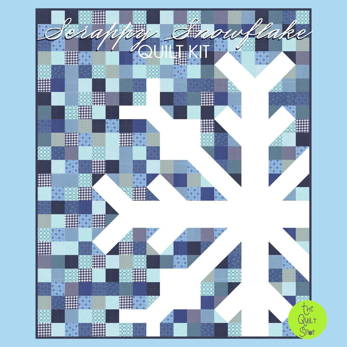 Scrappy Snowflake Quilt Kit - Winter Blues