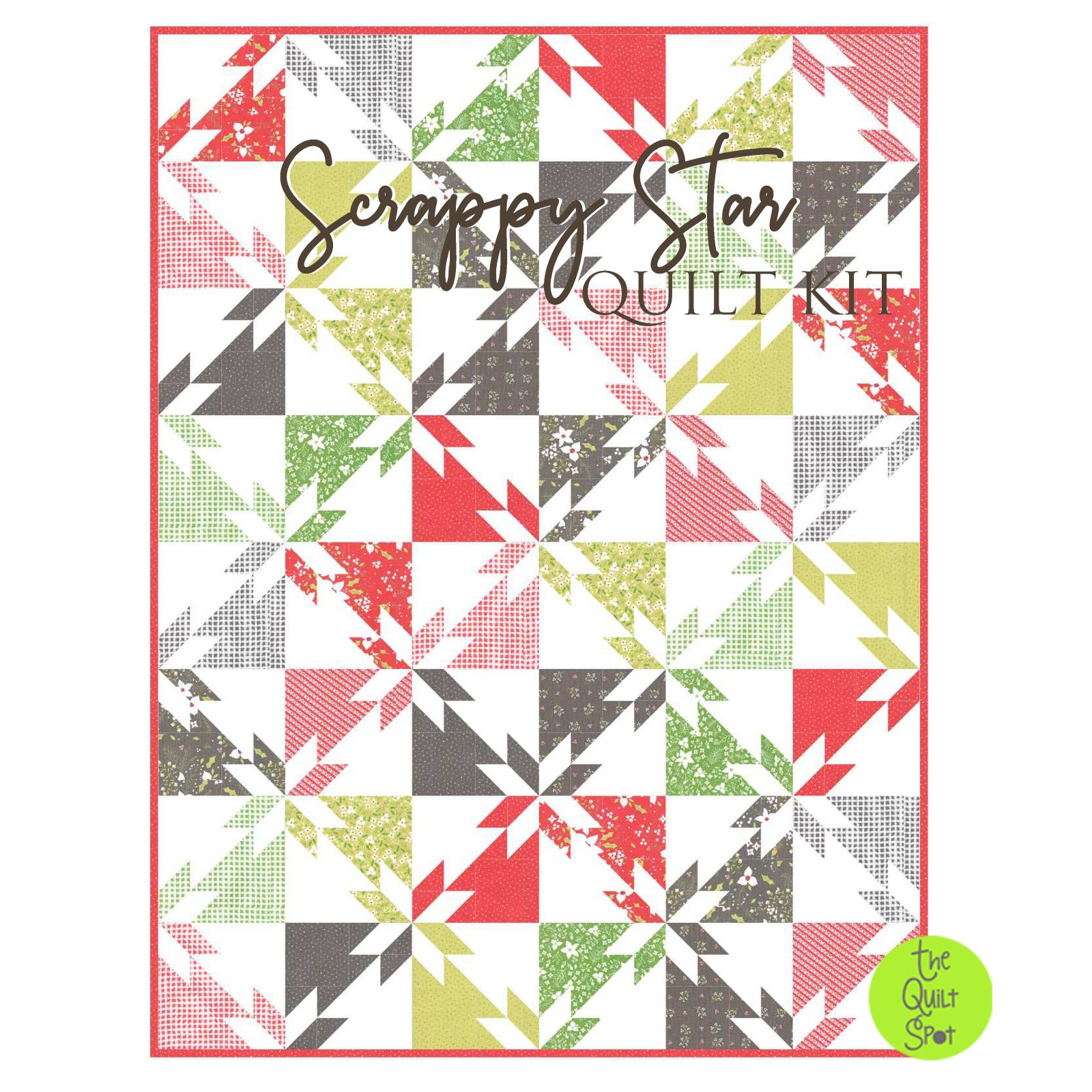 Scrappy Star Quilt Kit - Holliberry Edition