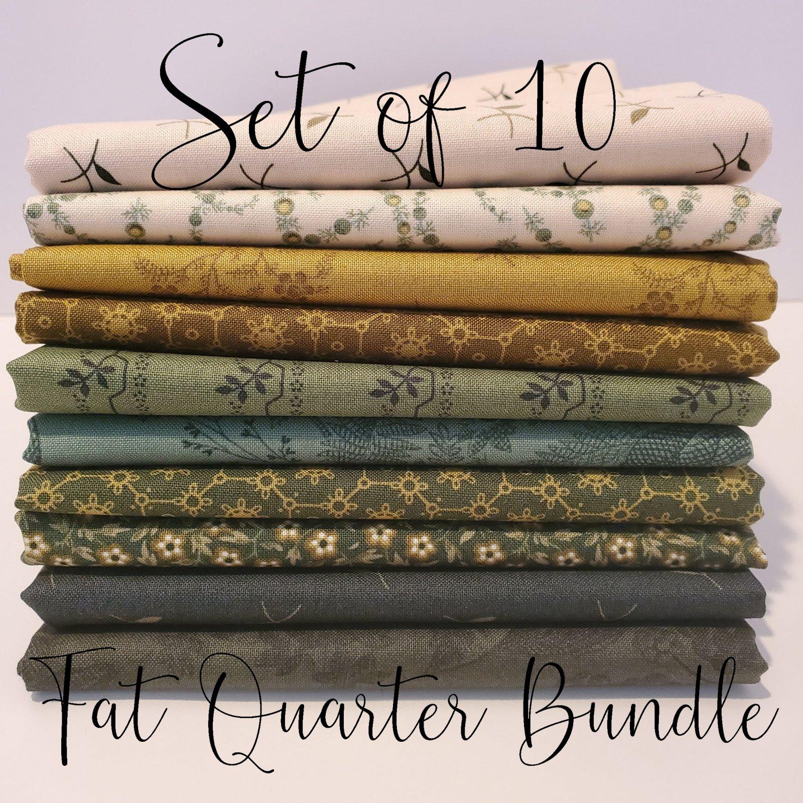 Laundy Basket Quilts Greens - 10 Fat Quarter Bundle