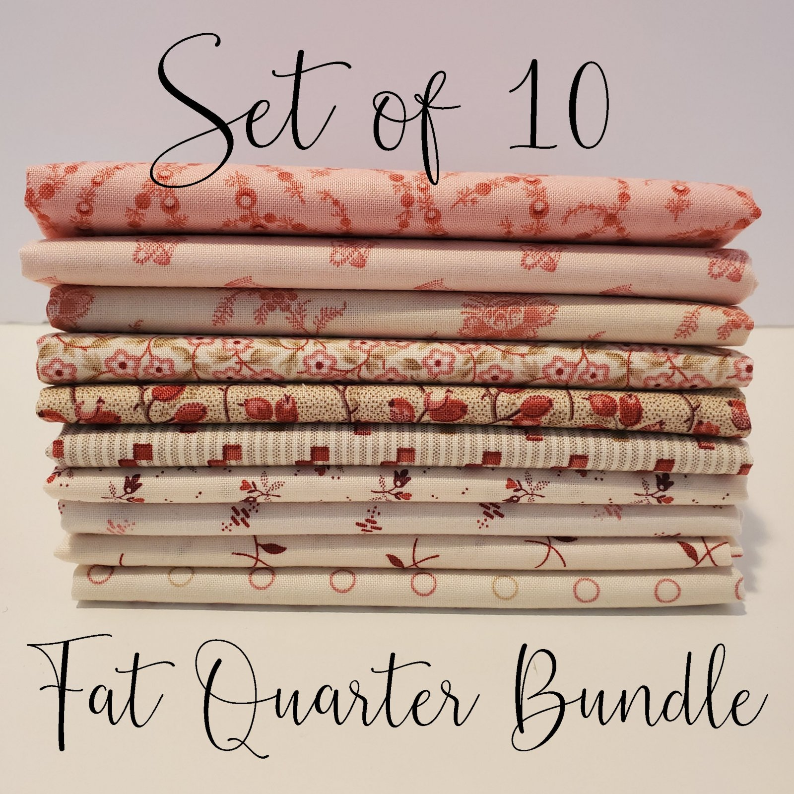 Laundy Basket Quilts Soft Pinks - 10 Fat Quarter Bundle