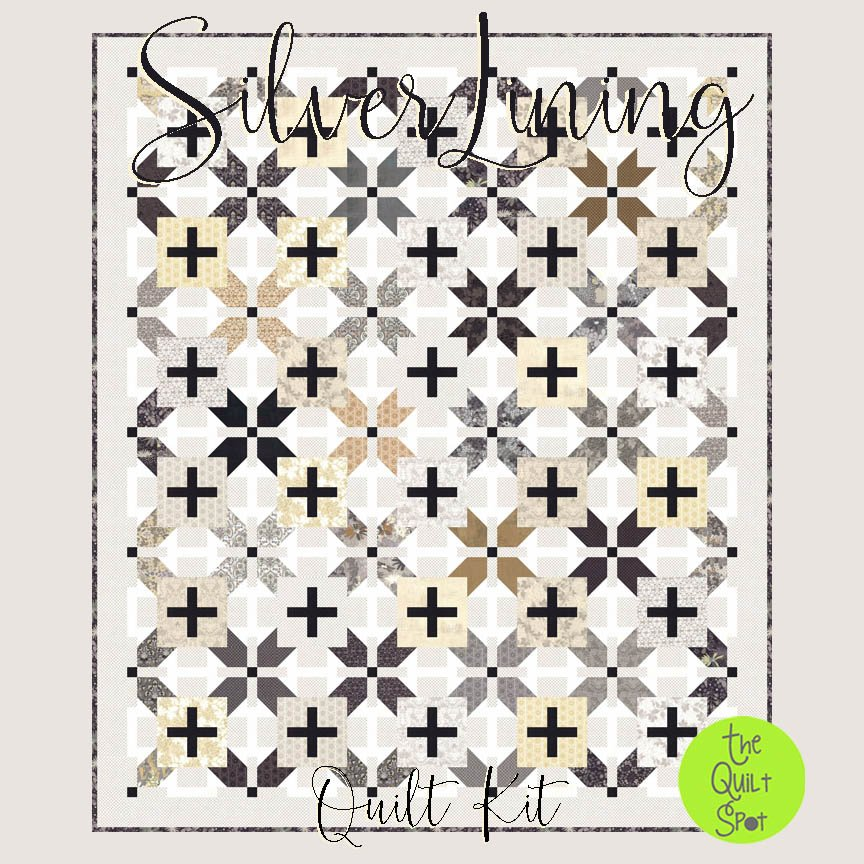Silver Lining Quilt Top Kit featuring Stiletto Fabric by Basic Grey
