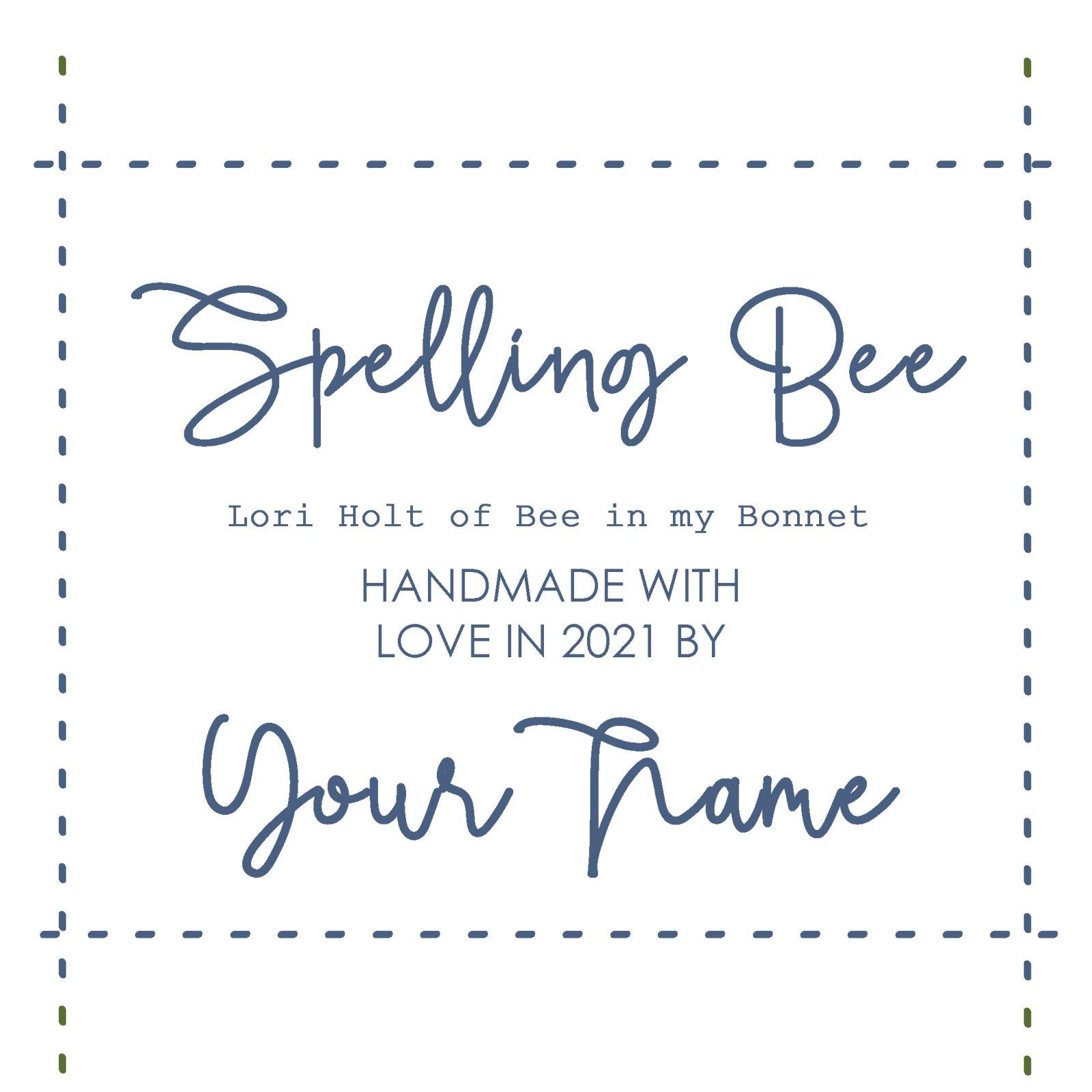 Spelling Bee Custom Label