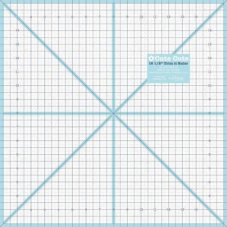 Lori Holt Trim It Ruler 16-1/2in Square