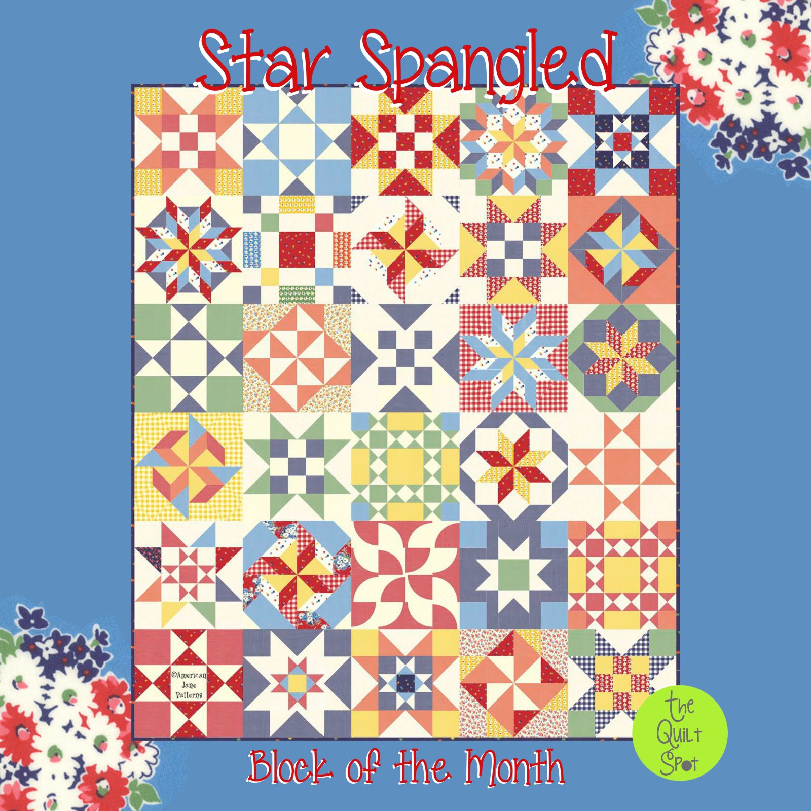 Star Spangled Block of the Month