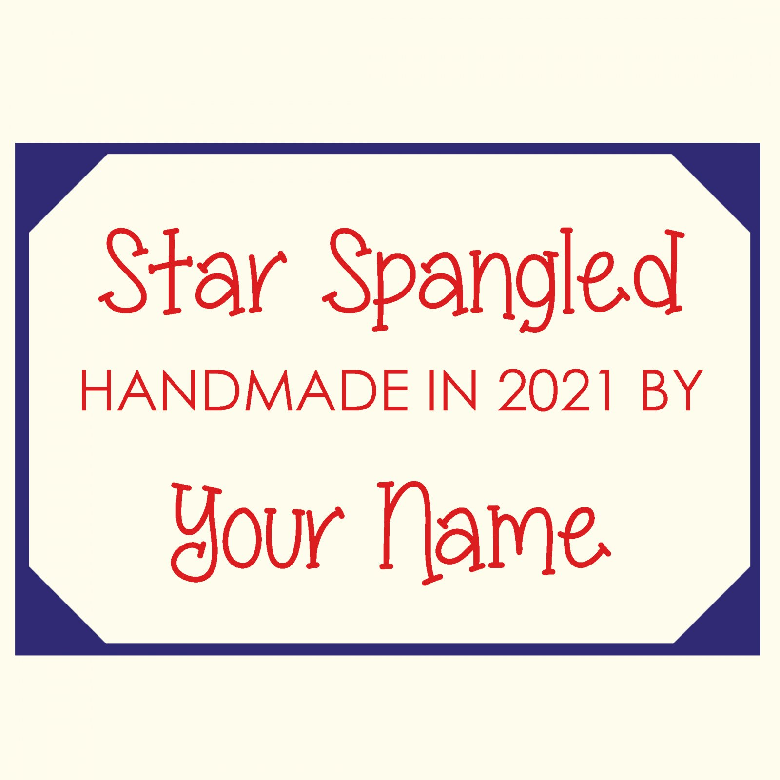 Star Spangled Custom Quilt Label