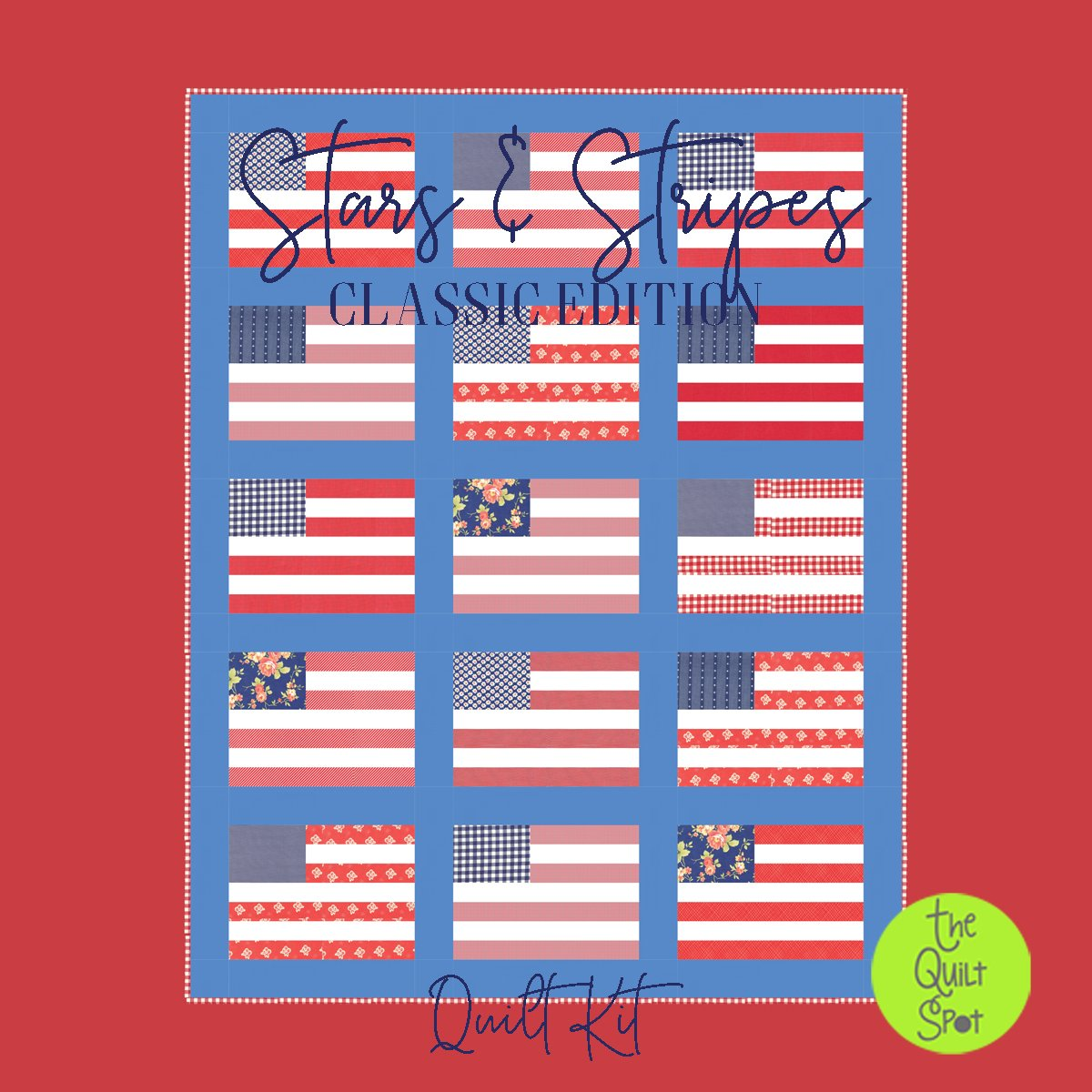 Stars and Stripes Classic Edition Quilt Kit featuring Fig Tree Catalina Fabrics