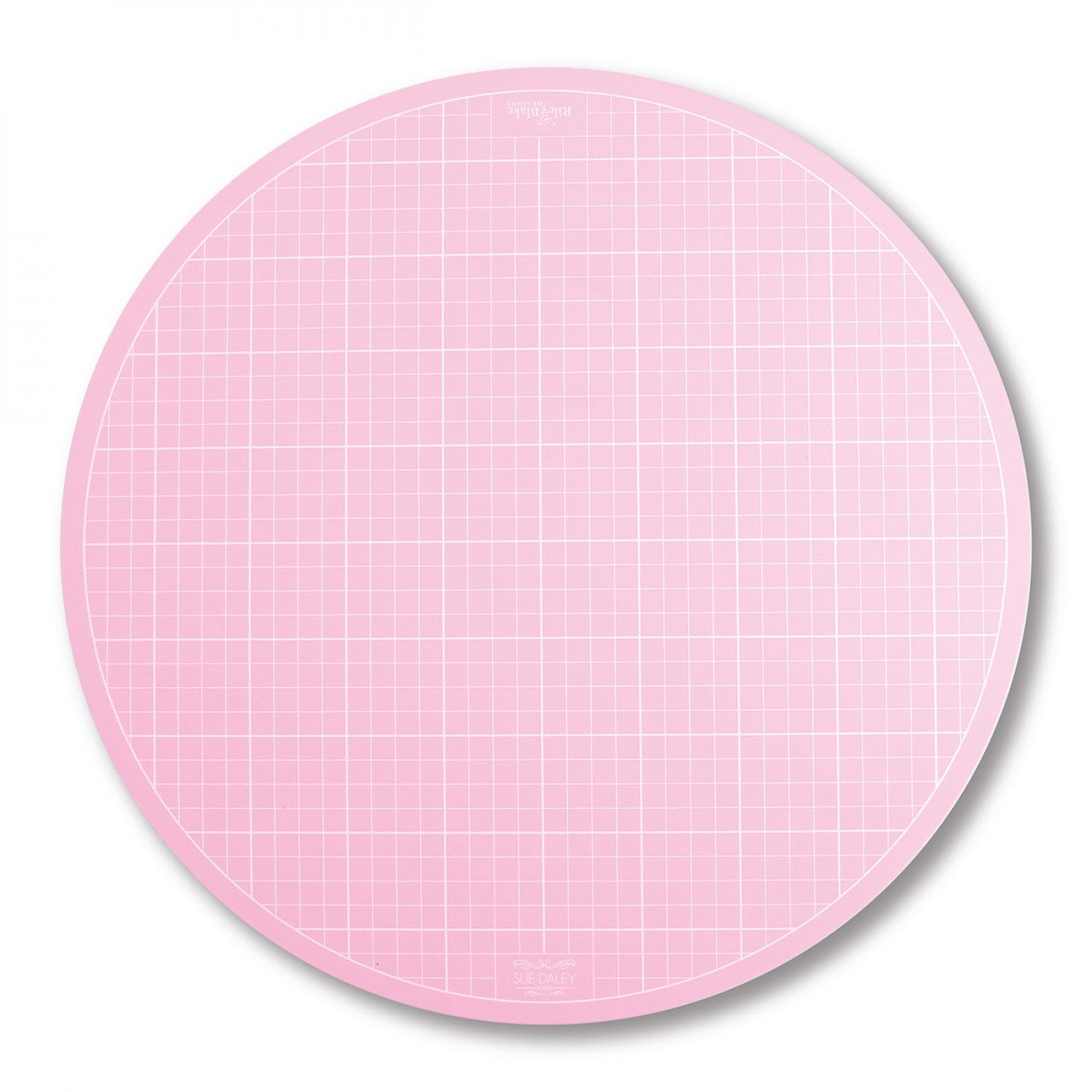Sue Daley Round Rotating Cutting Mat 10in Pink