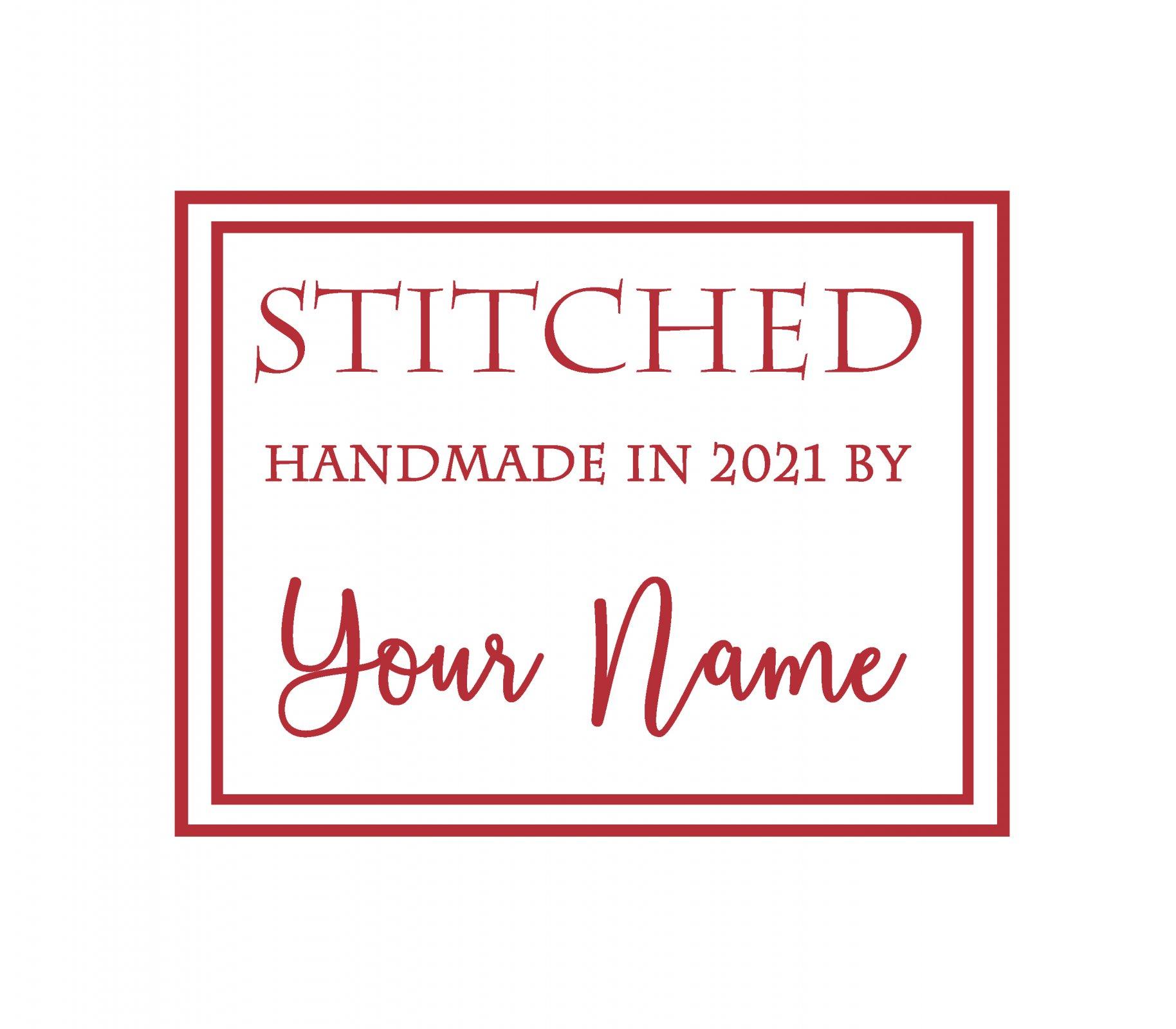 Stitched Custom Quilt Label