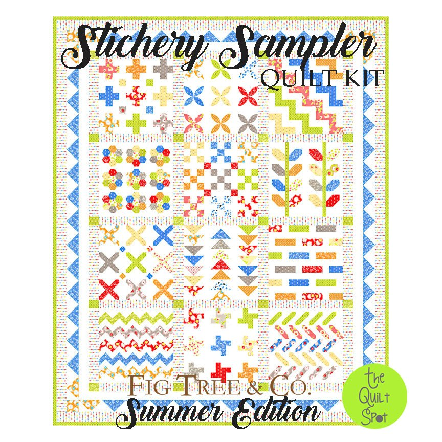 Stitchery Sampler Quilt Kit - Summer Edition