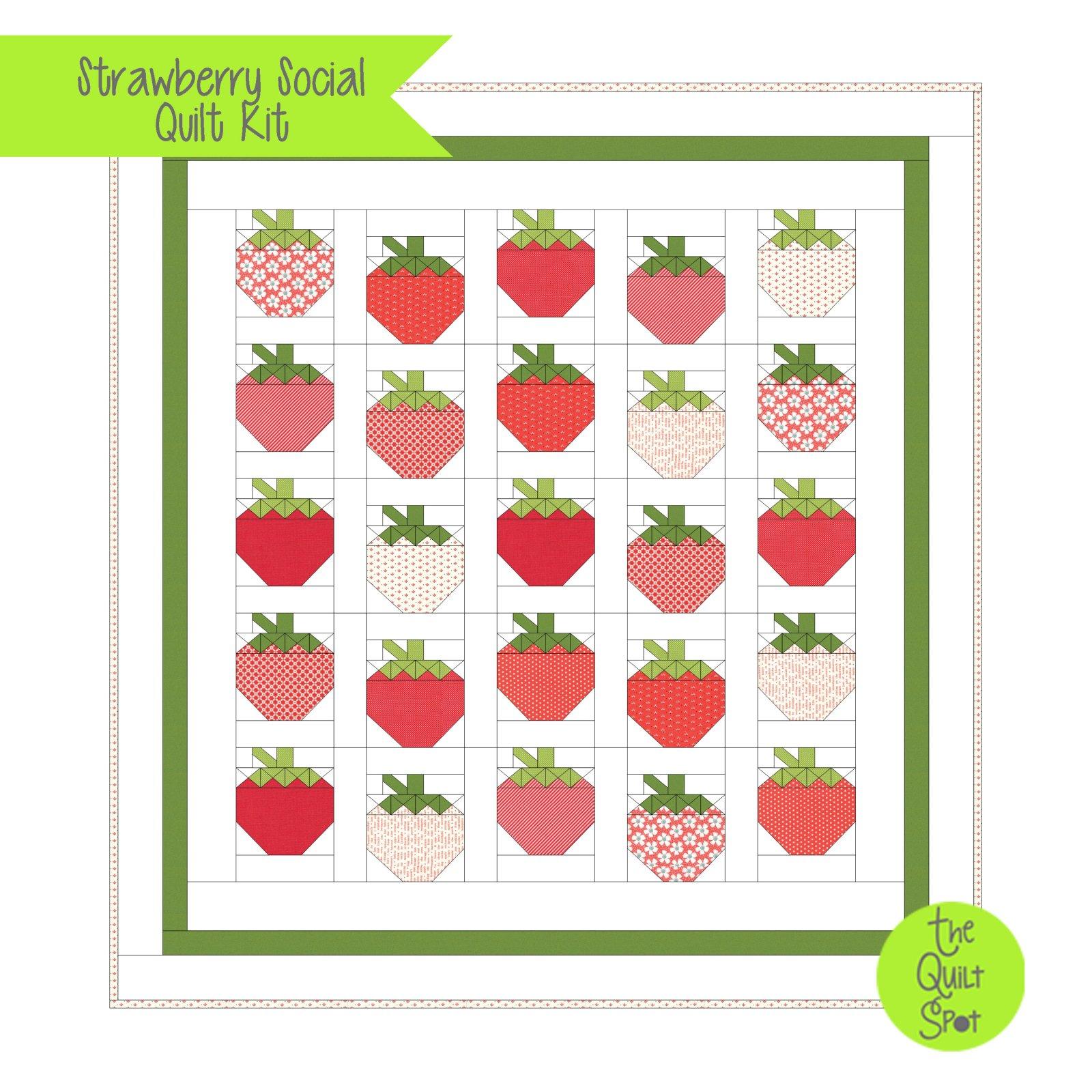 Strawberry Social Quilt Kit