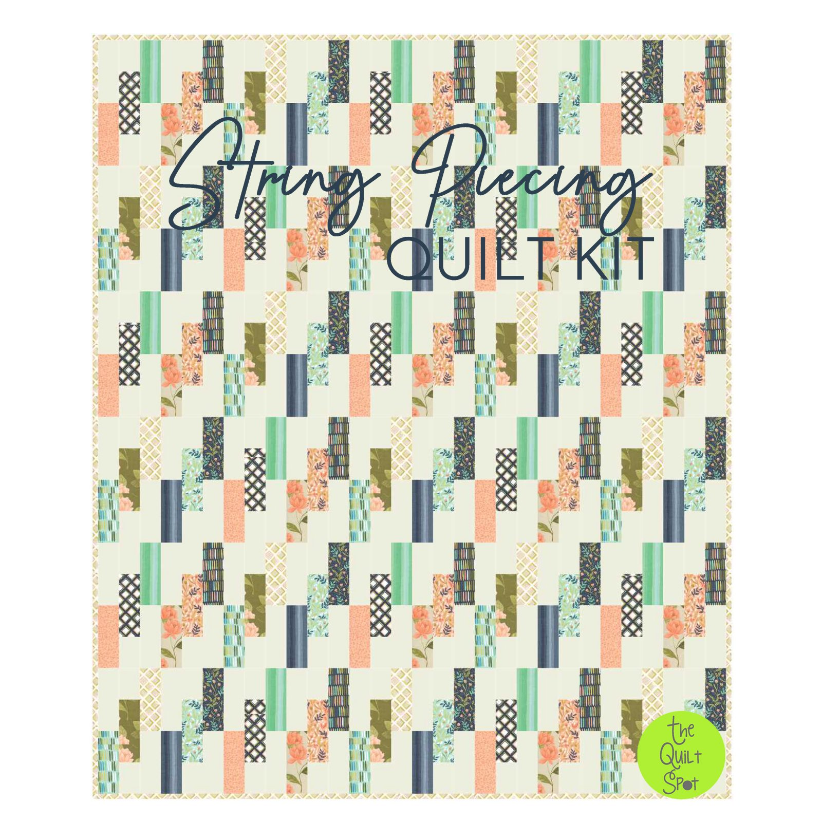 String Piecing Goldenrod Quilt Kit