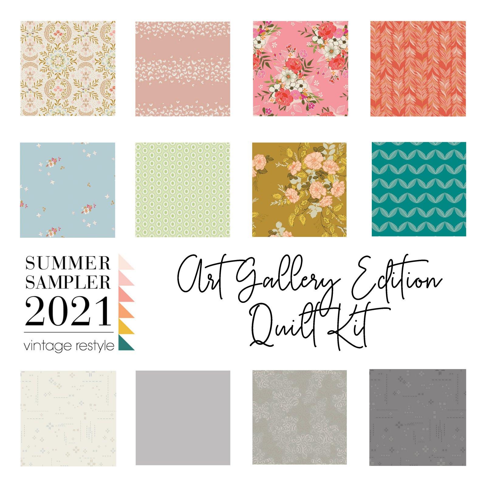 Summer Sampler Quilt Kit - Art Gallery Edition - Fabric Only Kit