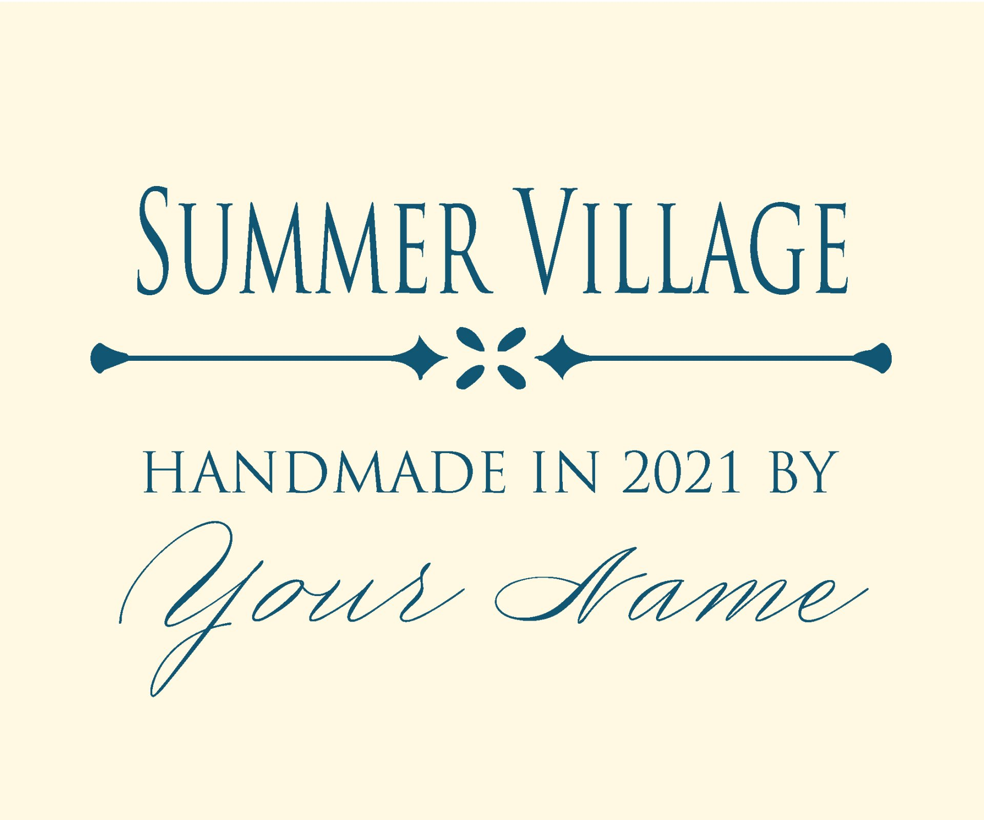 Summer Village Custom Label