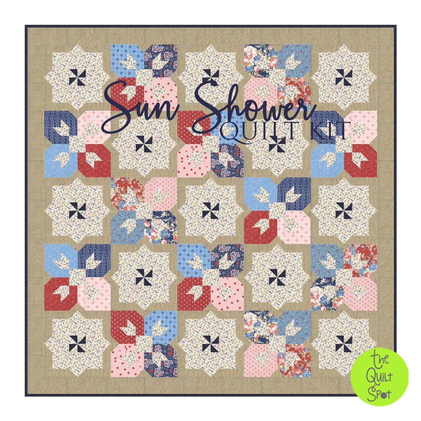 Sun Shower Quilt Kit featuring Mackinac Island Fabrics by Minick & Simpson