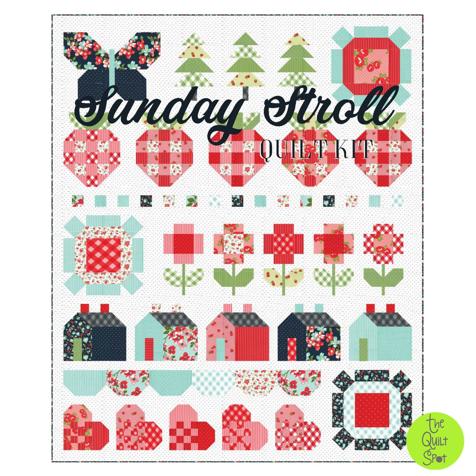 Sunday Stroll Quilt Kit by Bonnie & Camille